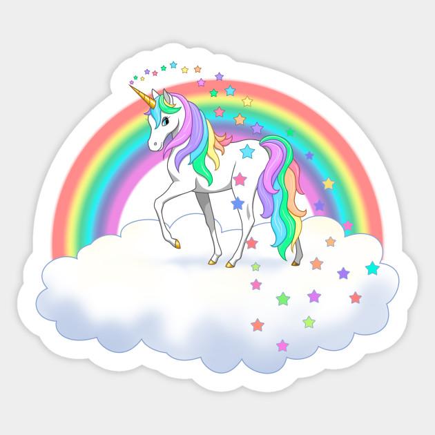 Pretty rainbow unicorn.