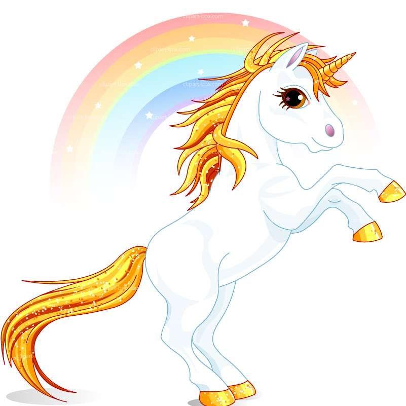 Clipart prancing unicorn.