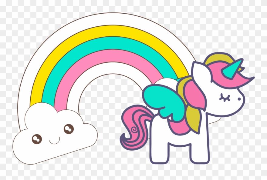 Baby unicorn clipart.