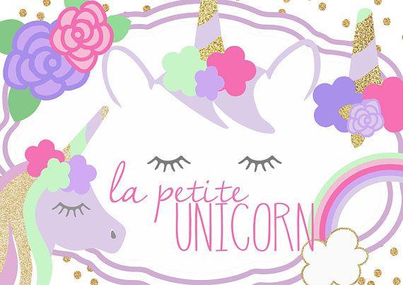 Petite unicorn clip.