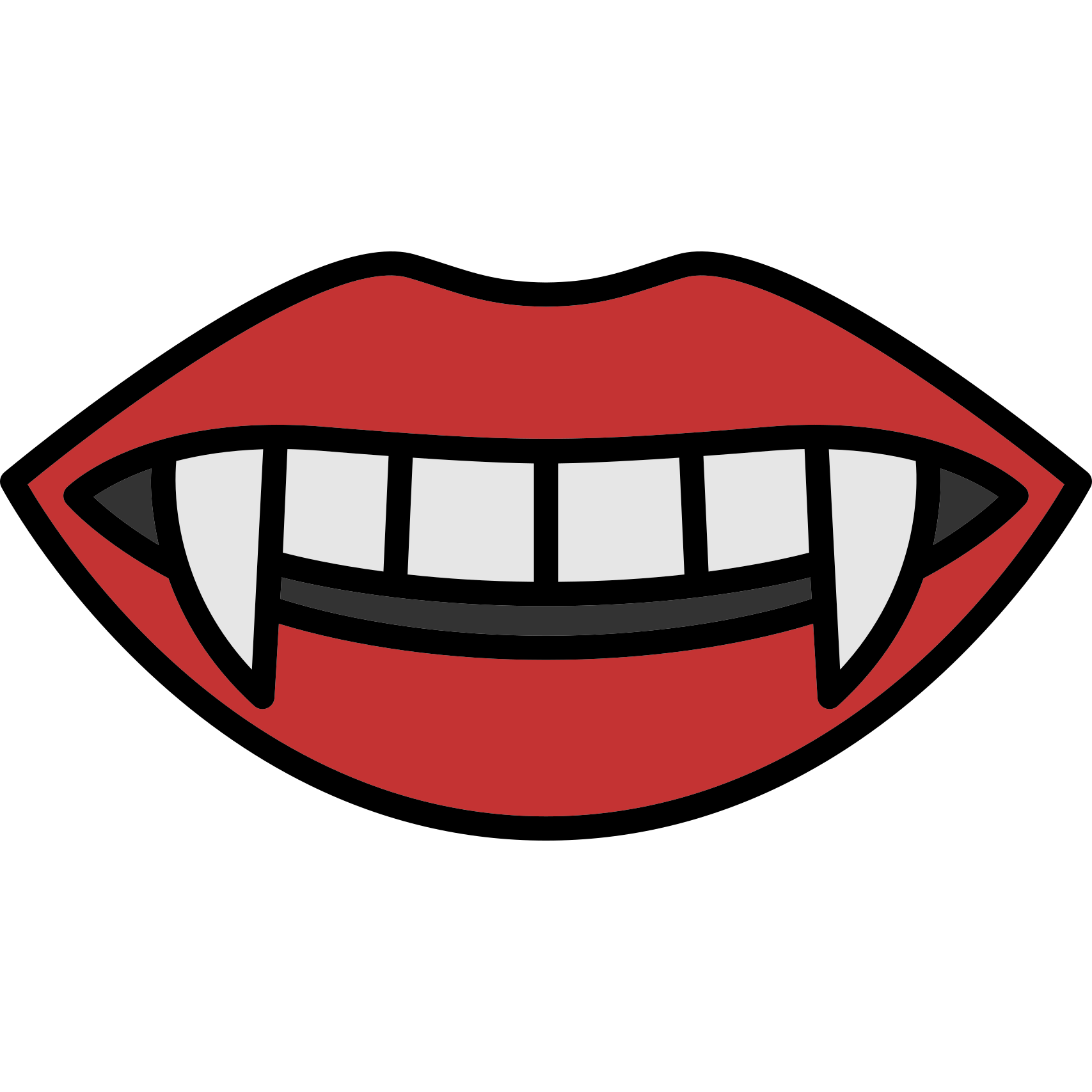 Vampire mouth clip.