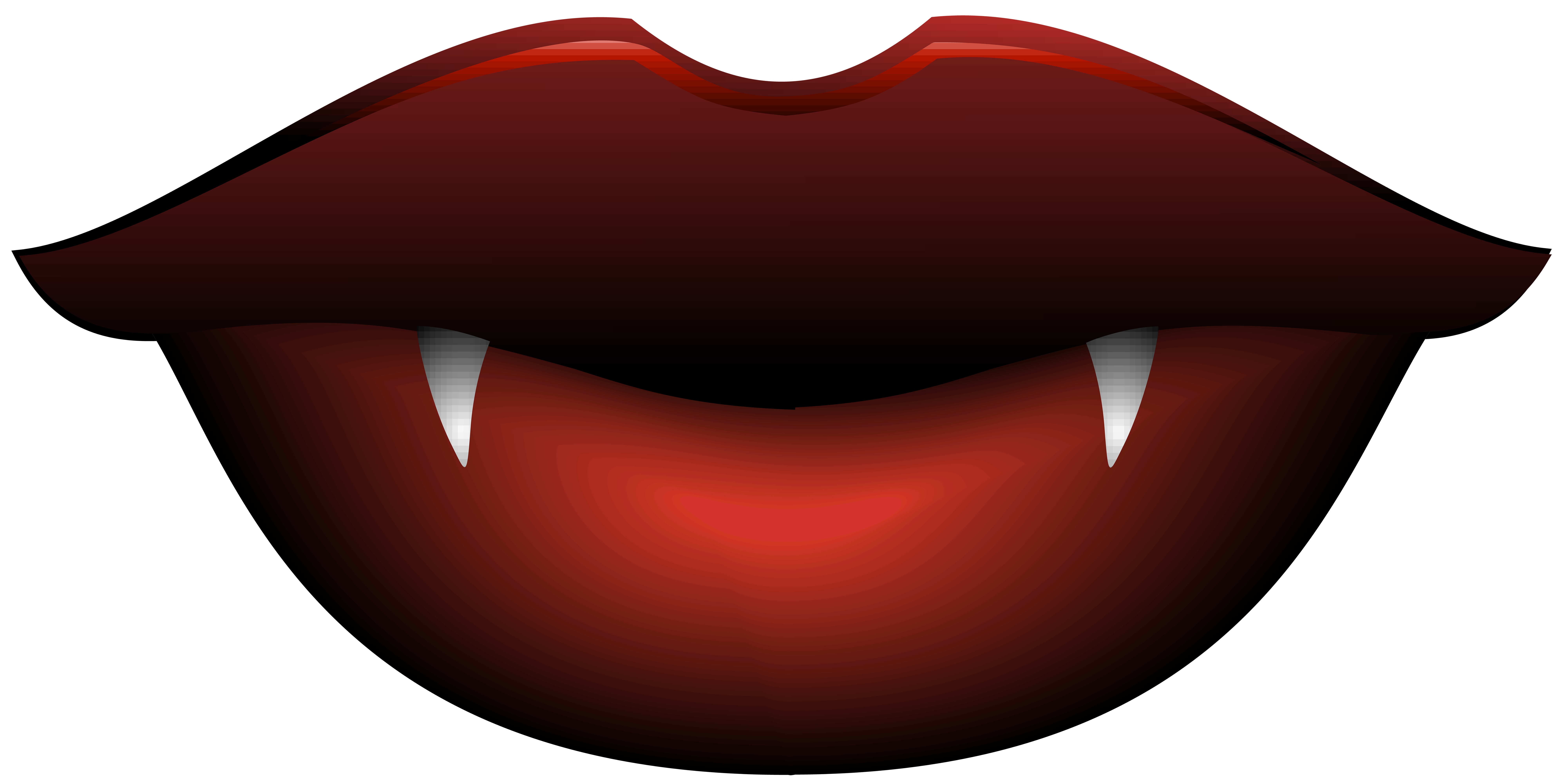 Vampire Lips Transparent PNG Clip Art Image