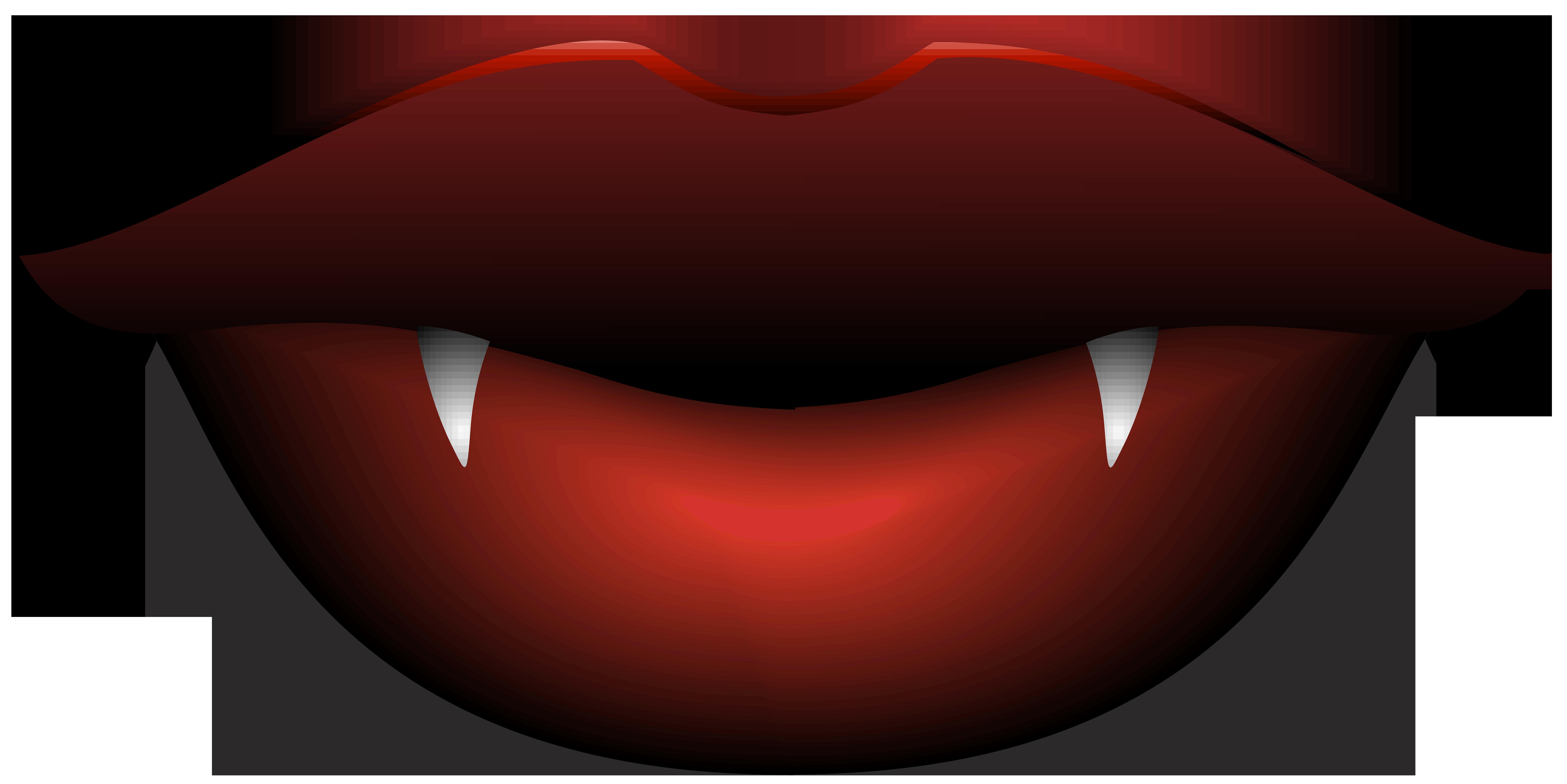 Vampire lips transparent.