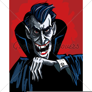 Scary vampire cartoon.