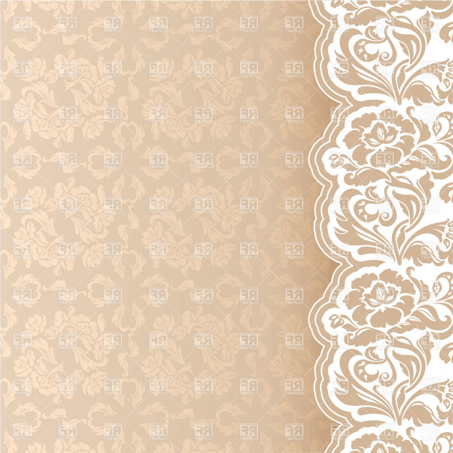 Beige victorian lacy.