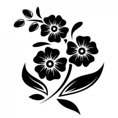 88 flower silhouette.