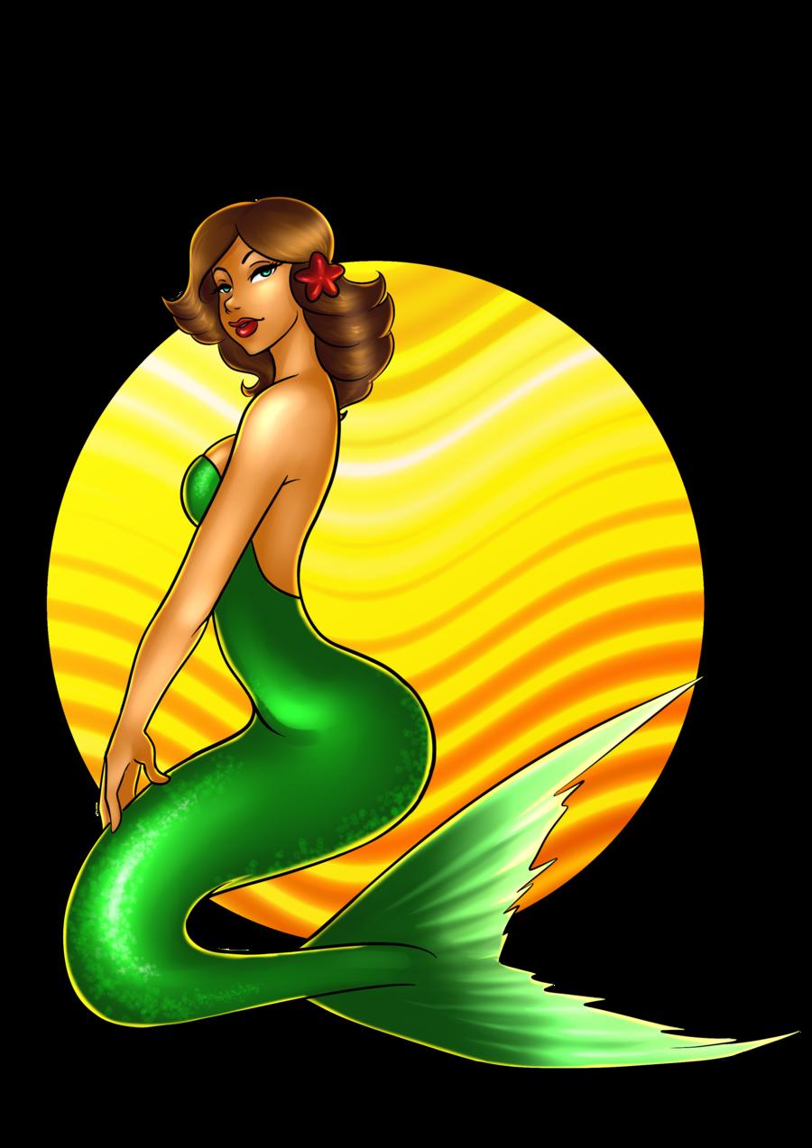 Mermaid clipart retro, Mermaid retro Transparent FREE for