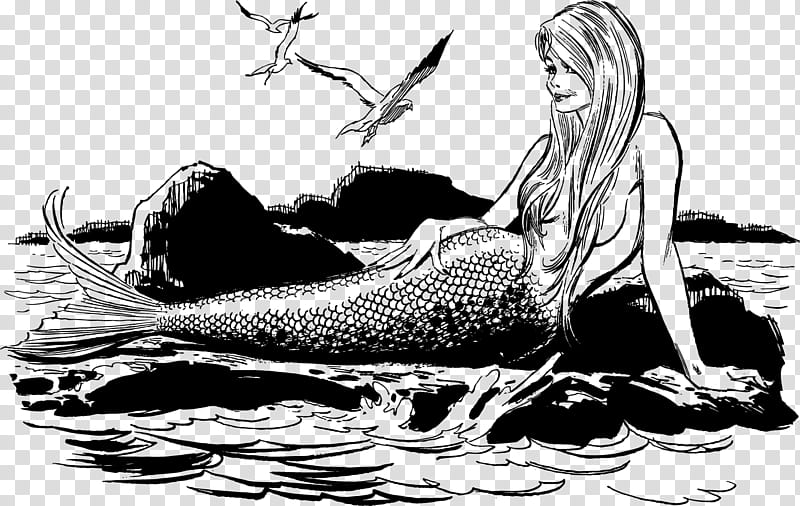 Vintage ladies mermaid.