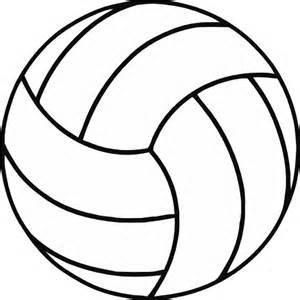 Free volleyball clipart black and white