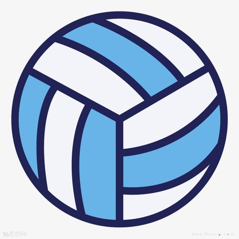 Volleyball blue flag.