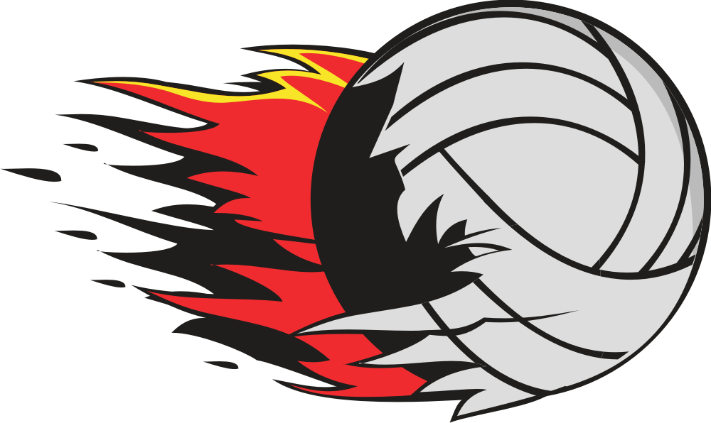 Flaming volleyball clipart free images