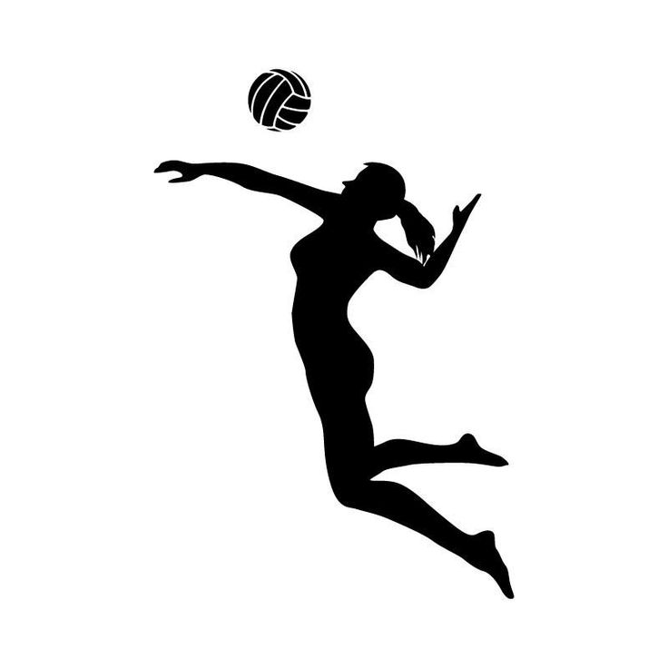 Volleyball silhouettes free.