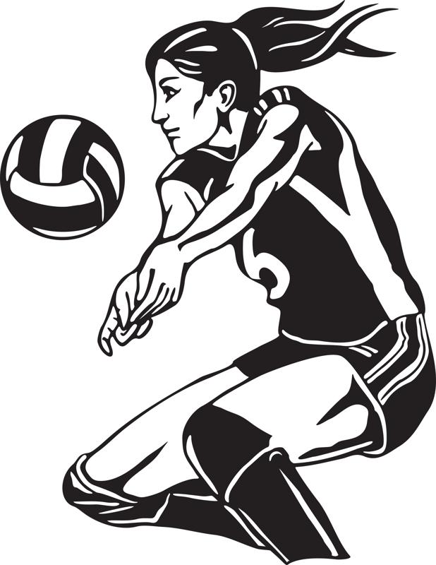 Free volleyball art.