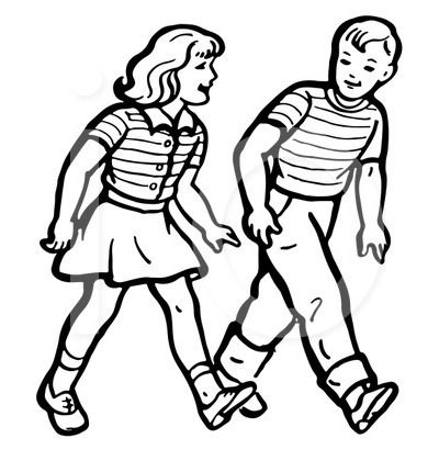 Image result for person walking clipart black and white