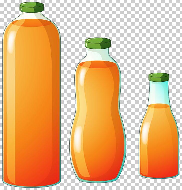 Orange drink water.