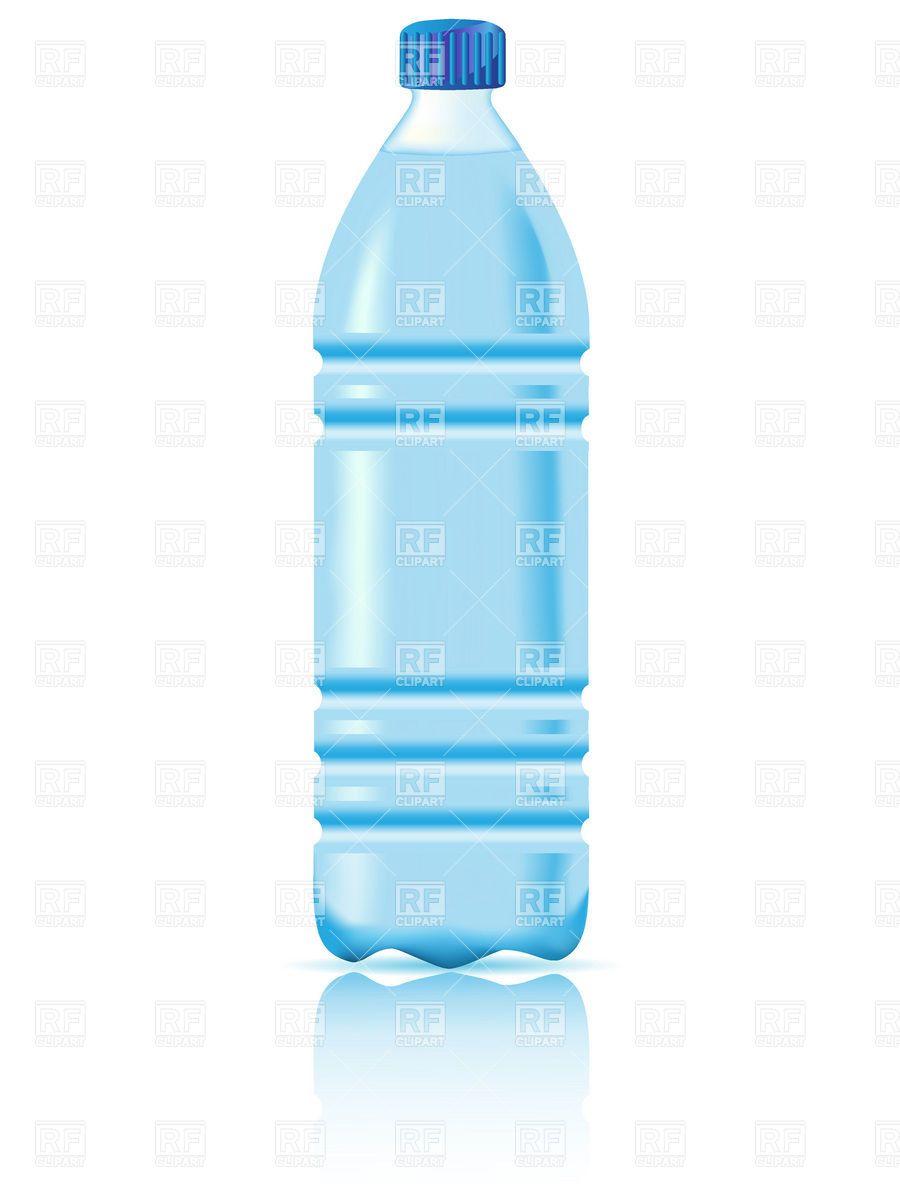 Plastic water bottle.