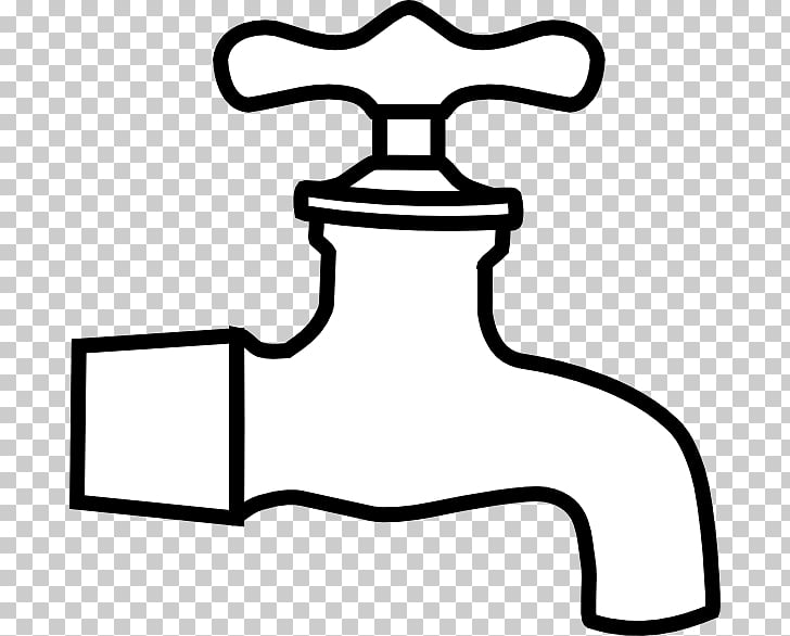 Tap water Black and white , Plumbing s PNG clipart