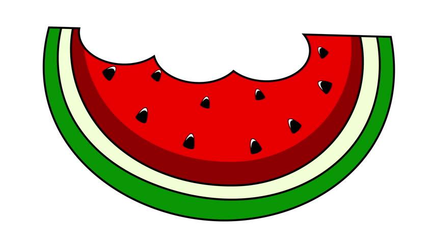 Watermelon slice clipart.