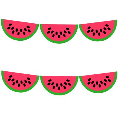 Watermelon garland watermelon.