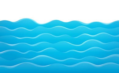 Cartoon waves water.