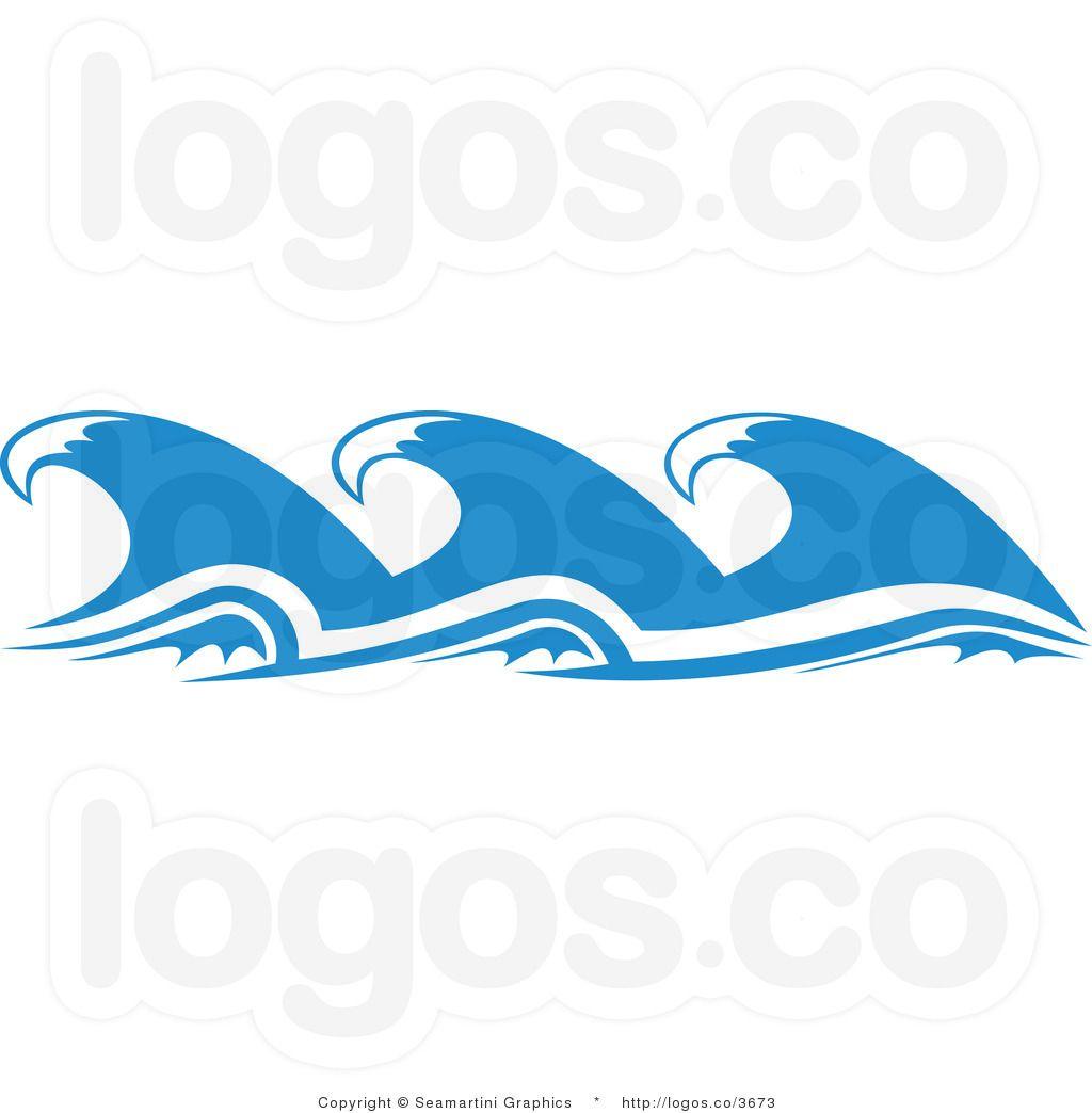Cartoon ocean waves.