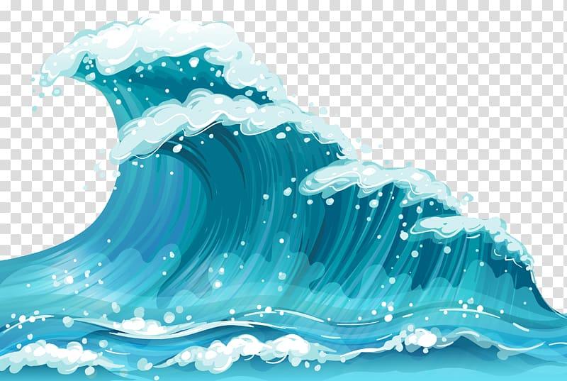 Wind wave sea.