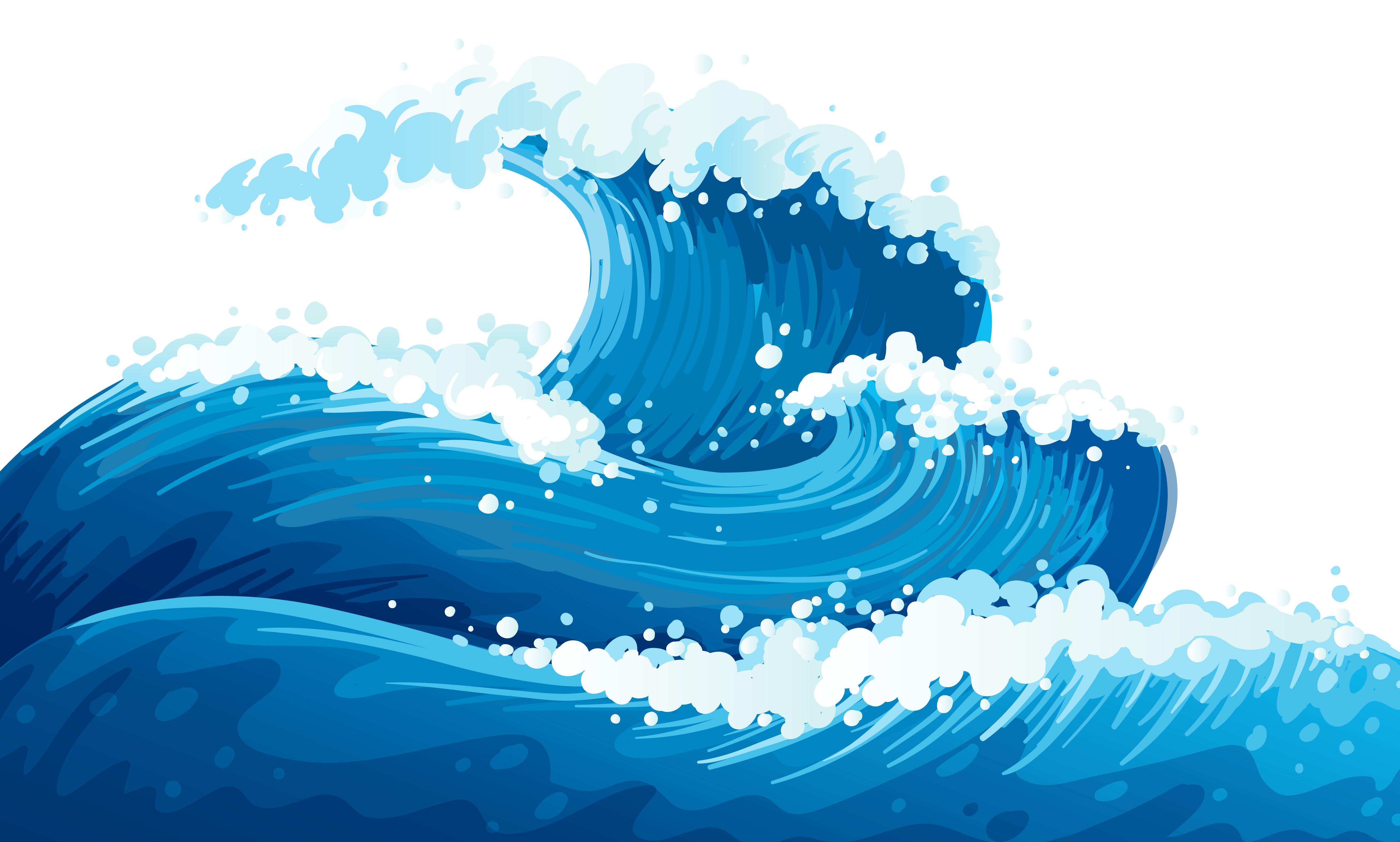 waves clipart clear background