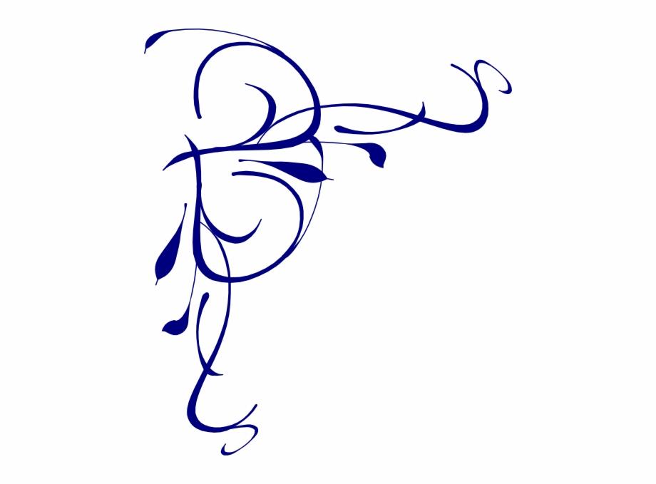 Blue swirl border.