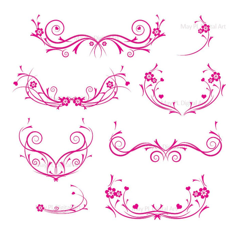 Wedding pink swirl.