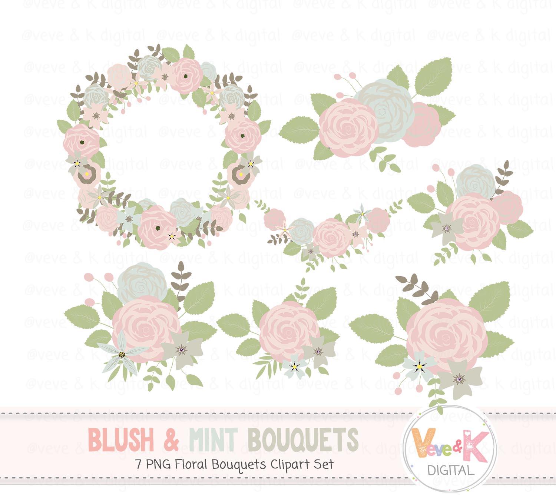 Blush and mint.