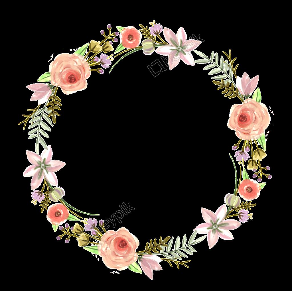Download flower wreath.