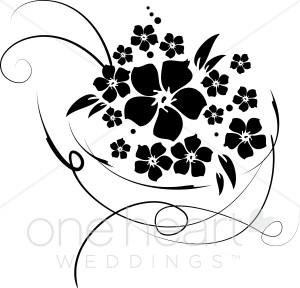 Bridal bouquet clipart.