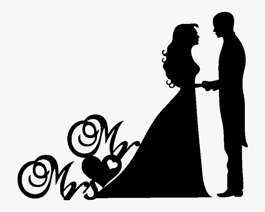 Wedding couple clipart.