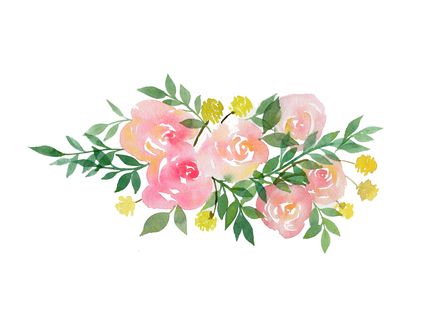 Floral wedding clipart.