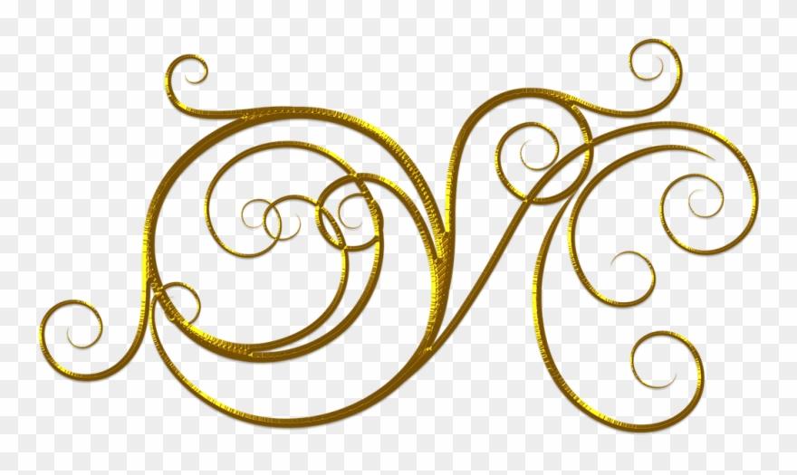 Wedding gold flourish.