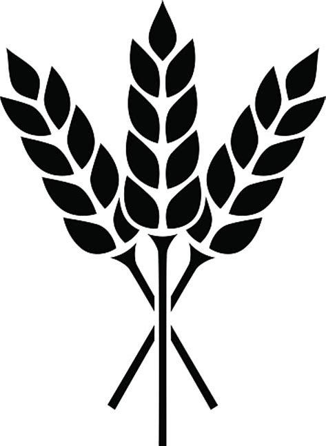 Image result for black and white wheat bundle clipart