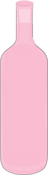 Light Pink Wine Bottle Clip Art at Clker