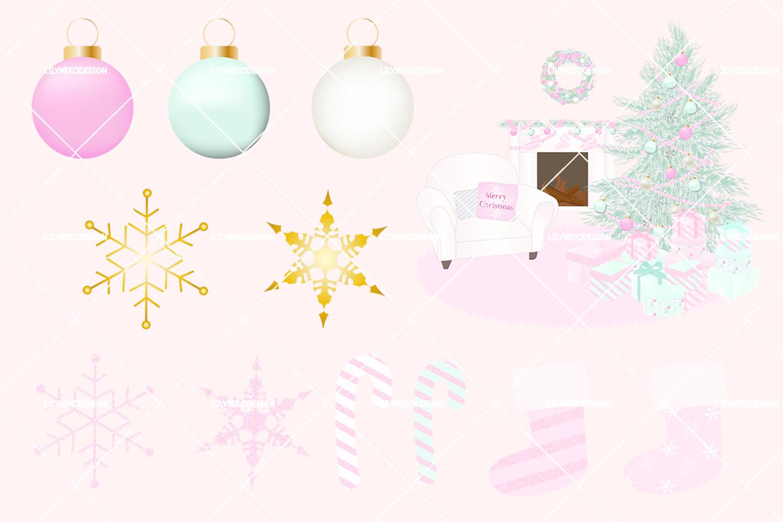 Pink christmas holiday.