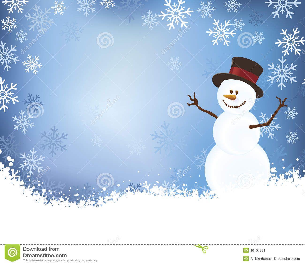 Snowman blue winter.