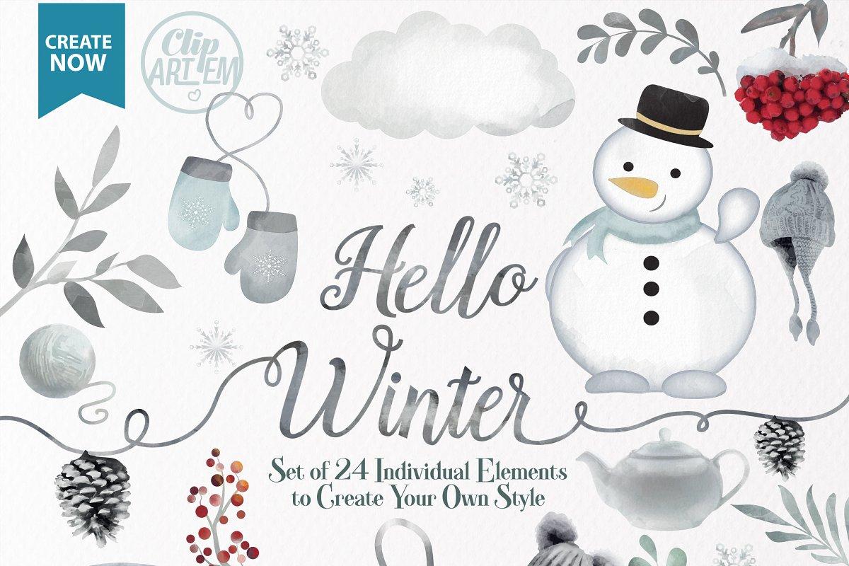 Winter clipart snowman.