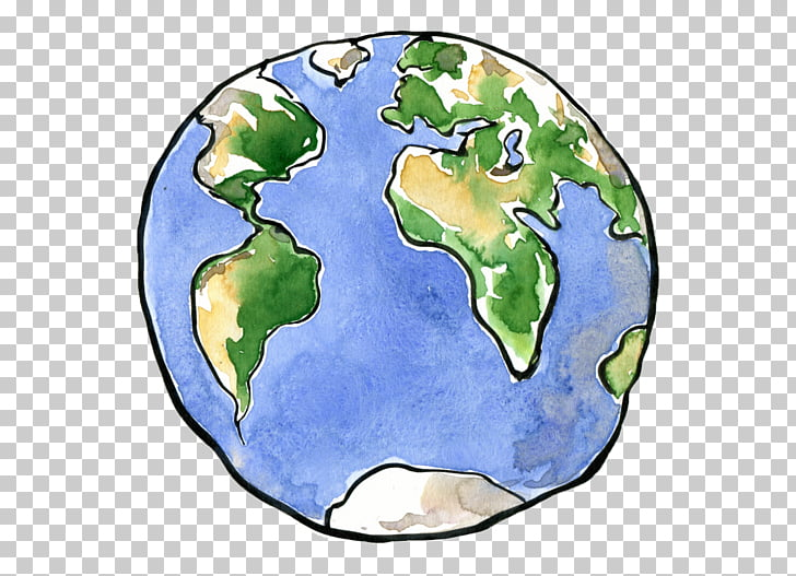Earth drawing planet.