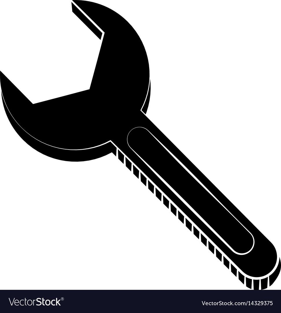 Wrench maintenance equipment repair pictogram