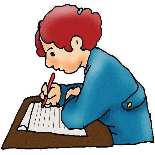 children writing clipart hand
