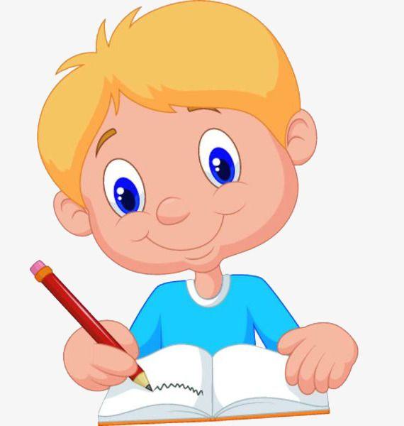 Writing boy education.