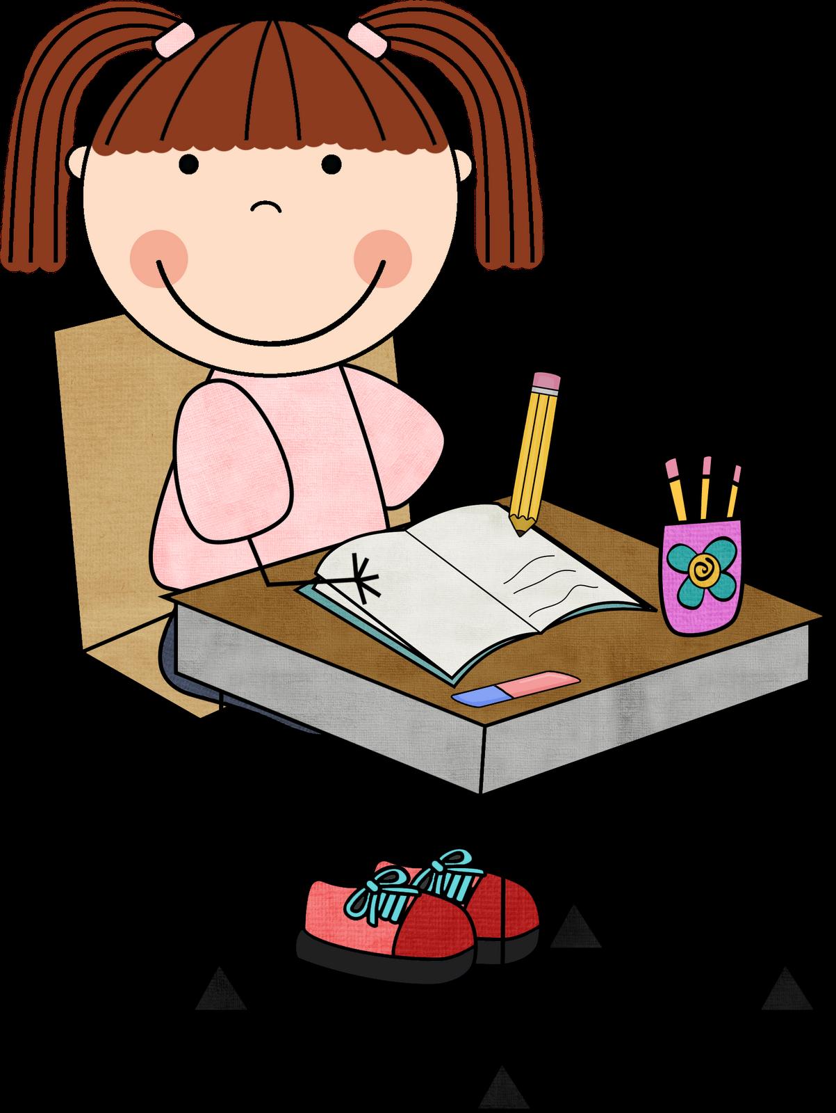 children writing clipart dibujo