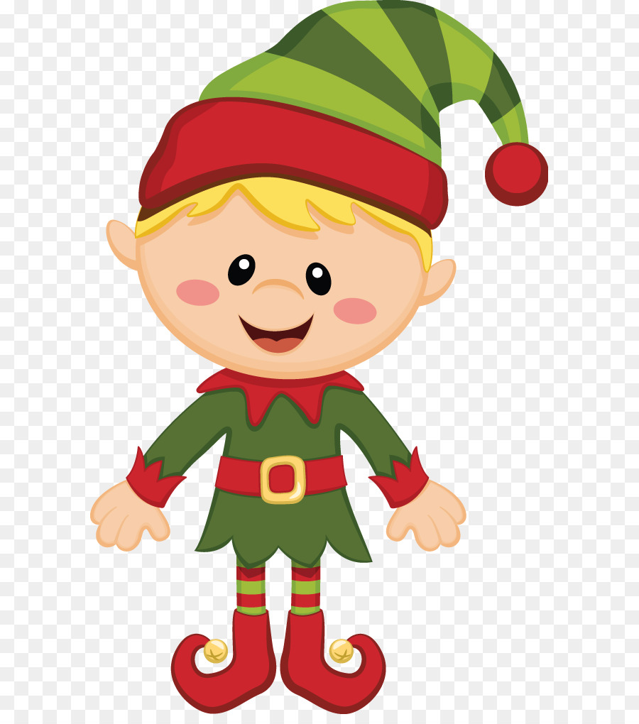 Christmas elf clipart cartoon.