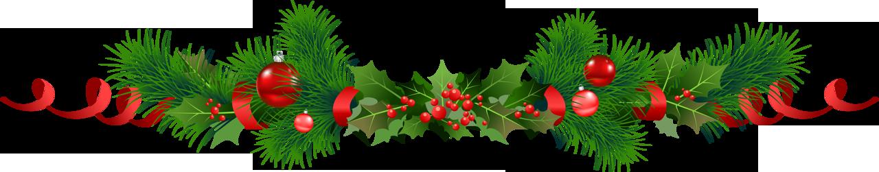 Christmas garland wreath.