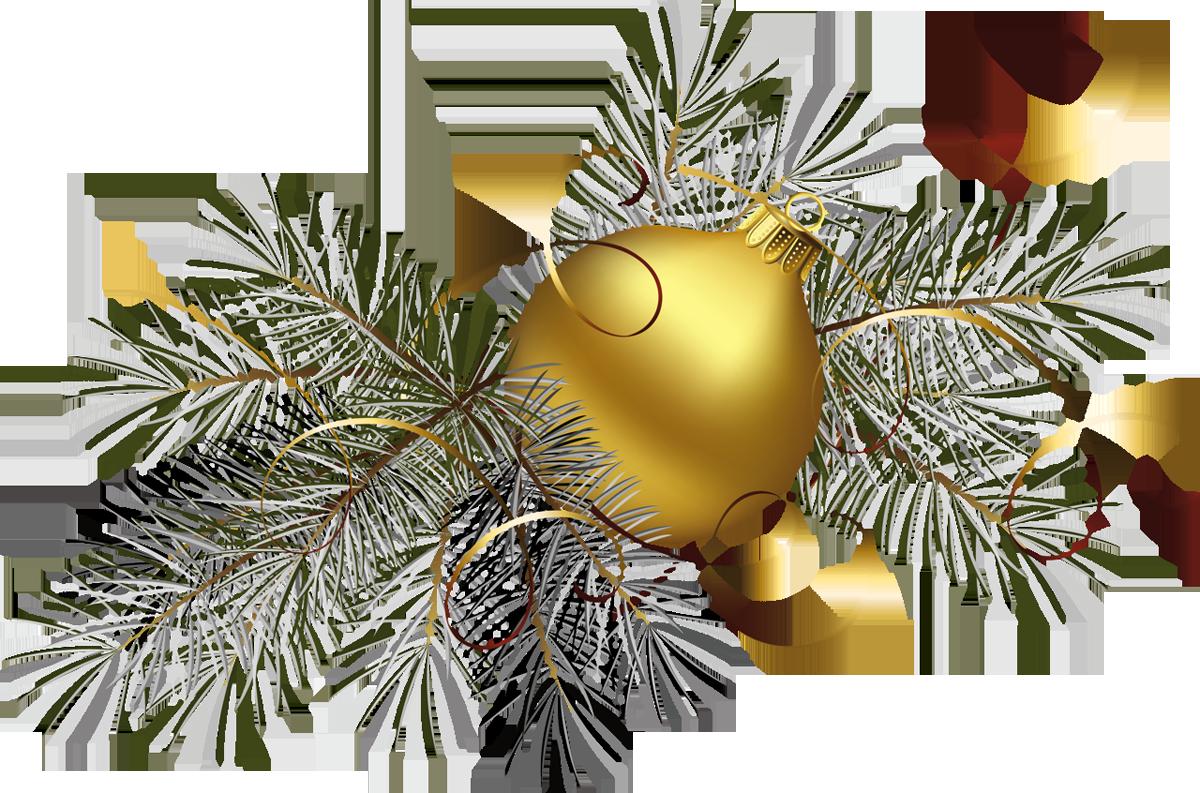 Transparent gold christmas.