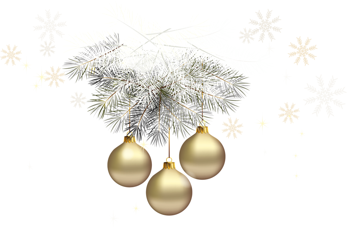 Gold transparent christmas.