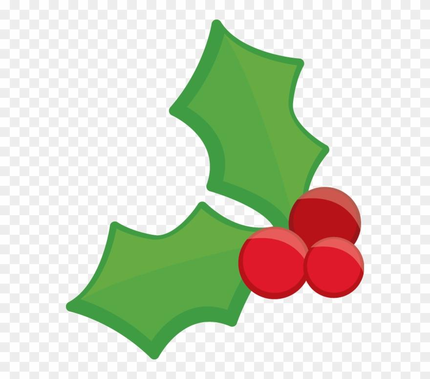 Christmas holly clip.